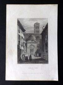 Finden works of Byron C1835 Antique Print. Dante's Tomb, Ravenna, Italy